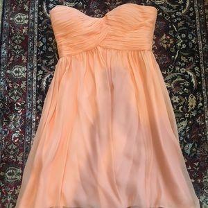 Donna Morgan Strapless Dress Sz 8 - Peach